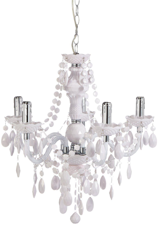 Reality leuchten lampadario classico in vetro acrilico 5 for Lampadario amazon