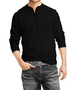 346a8f8b16c Fanideaz-Mens-Cotton-Henley-Full-sleeve-T-Shirts-for-MenPremium-Black-Henley -T-Shirt-0