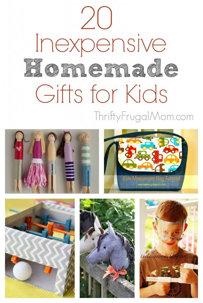 20 Inexpensive Homemade Gifts for Kids | Homemade kids ...