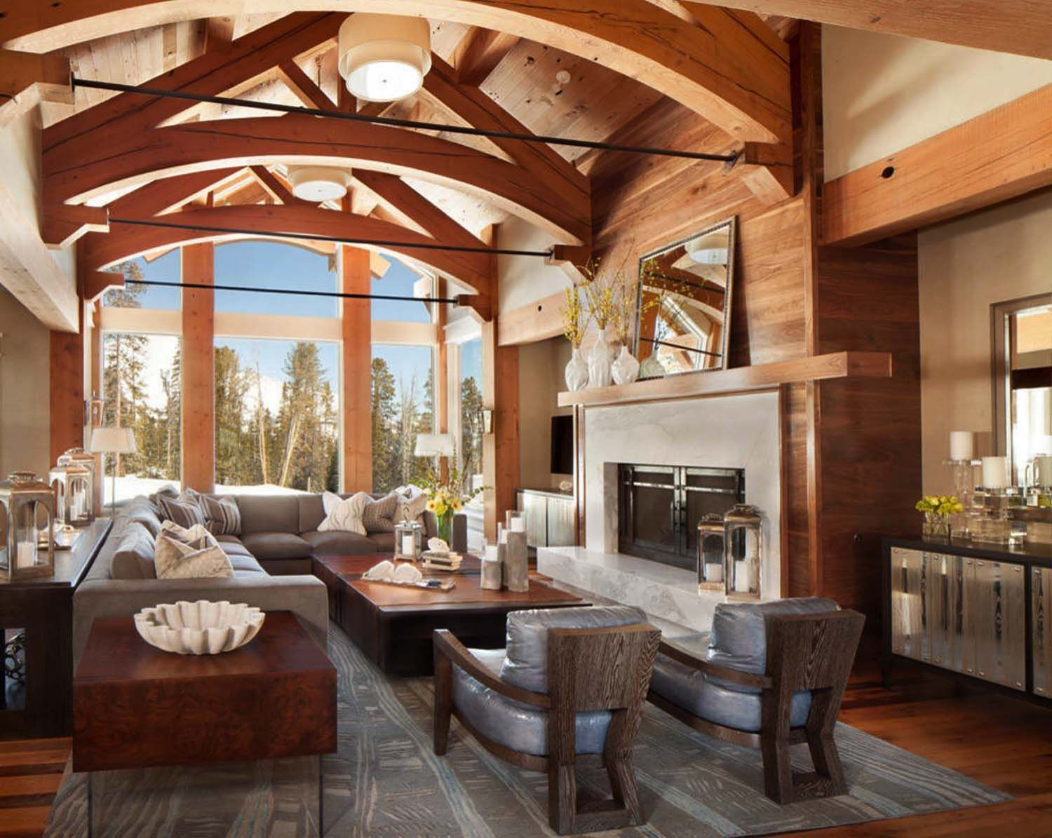 mountain retreat in big sky country showcases bright bold on modern cozy mountain home design ideas id=64992