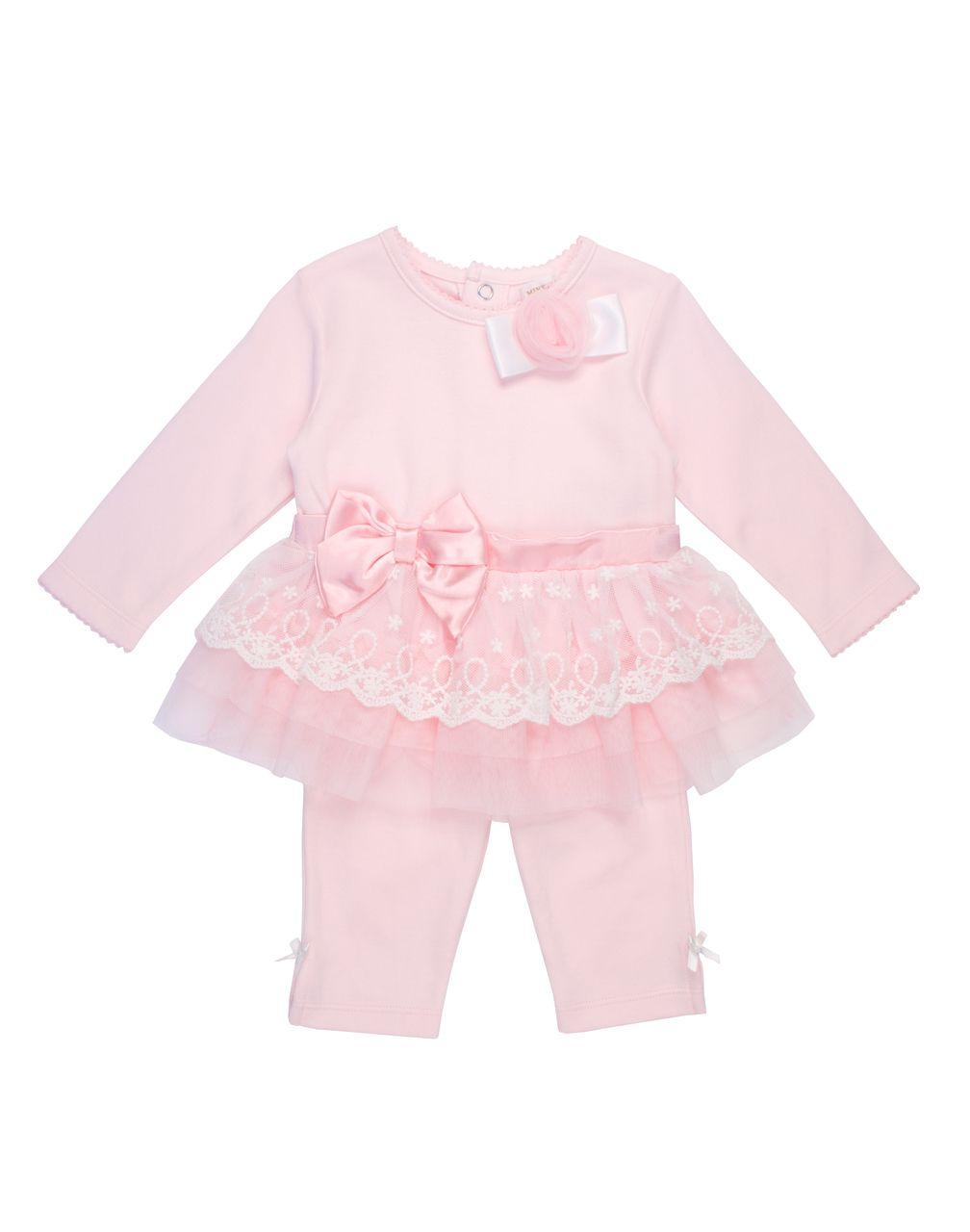 576a7939a5e5 Mintini - Pink Dress Legging Set - 1851 - Kiddie Boutique By Claire ...
