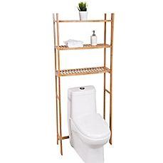 Image Of Best Living 3 Shelf Bamboo Over The Toilet E Saver