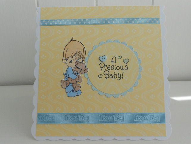 New baby boy card £2.00