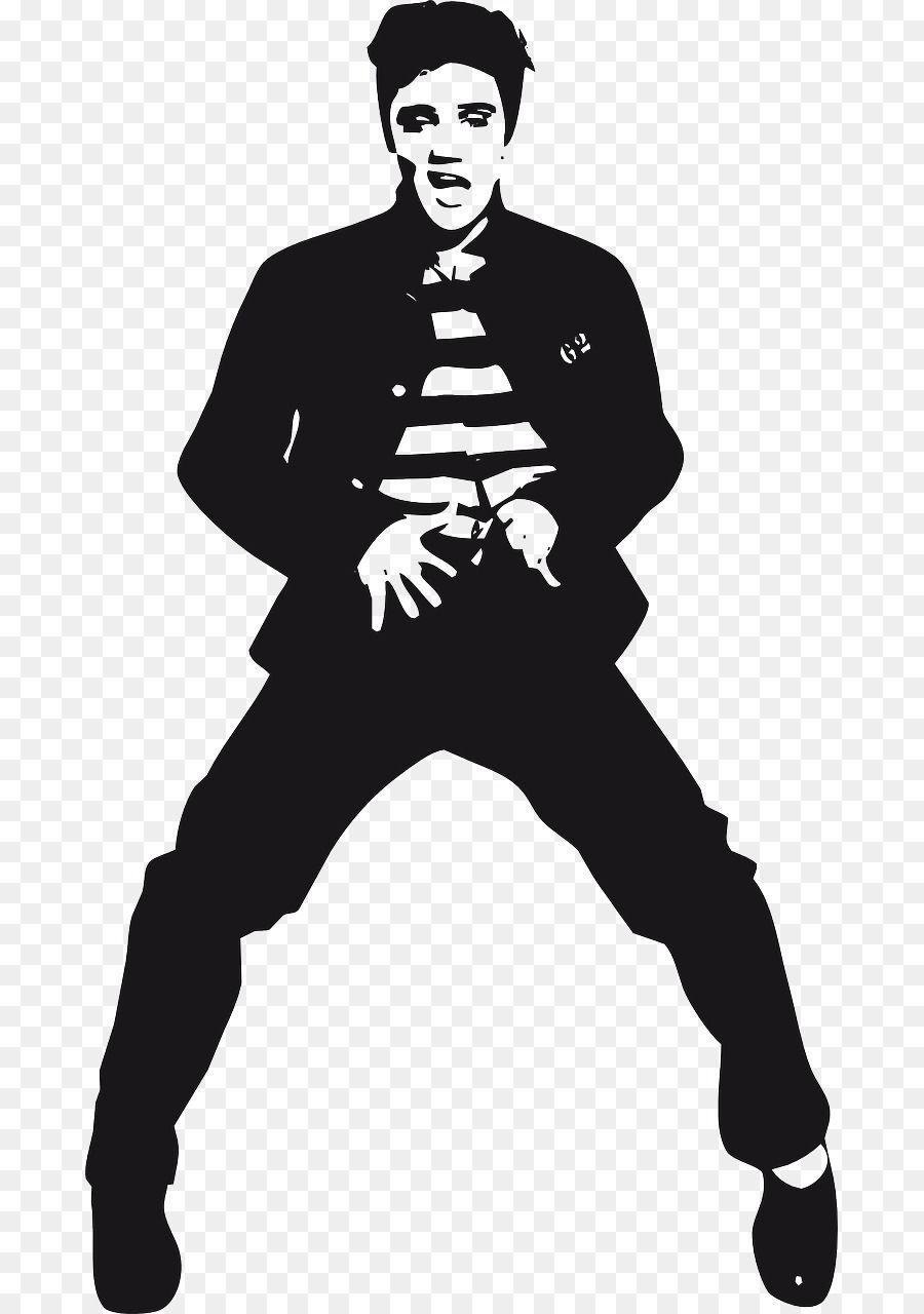 Elvis Presley Silhouette Jailhouse Rock Silhouette Png Elvis Presley