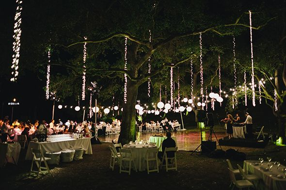 Vintage Wedding Locations Outdoor Venues Night Malibu