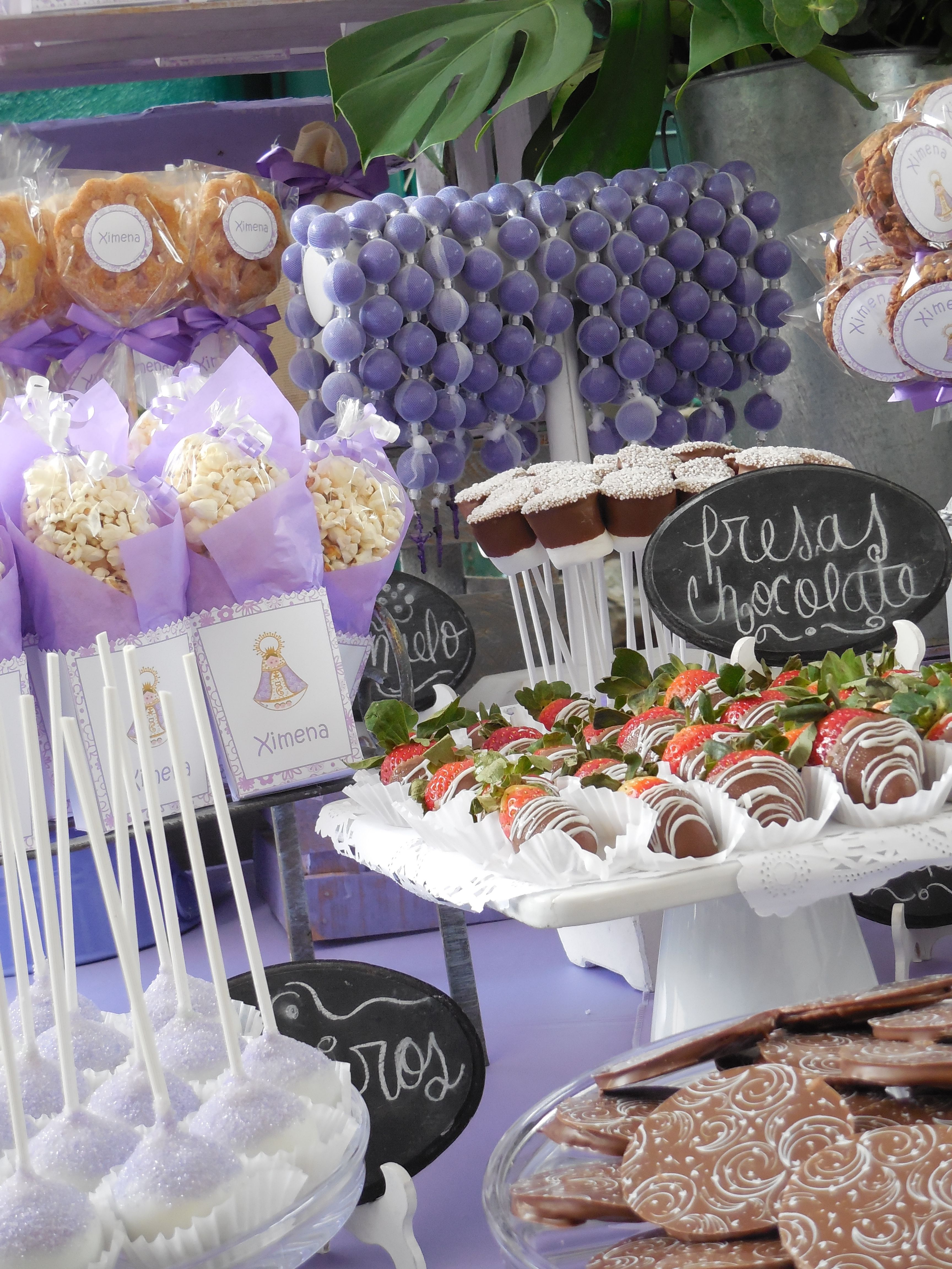 Mesas de dulces comuniones pinterest mesas - Mesas para comuniones ...