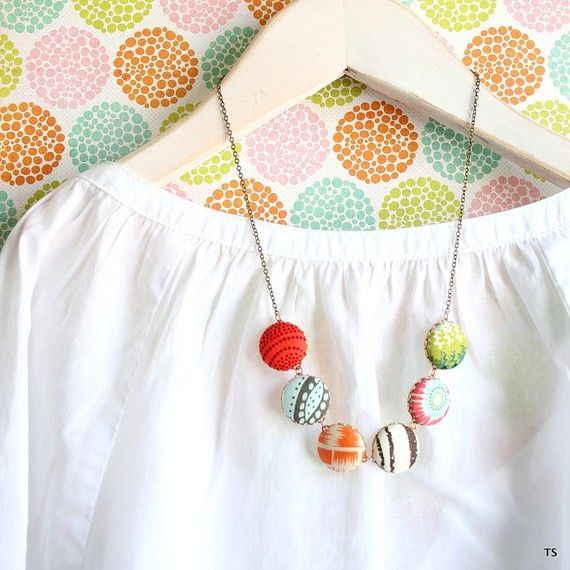 The Modern Button Statement Necklace | slighly as the wind ...