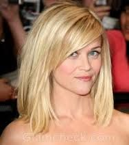 Long Blunt Bob With Side Bangs Google Search Hair Styles Medium Hair Styles Reese Witherspoon Hair