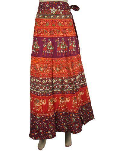 Elegant Cotton Wrap Around Long Skirts Hippi Boho Purple Orange Animal Floral Print Wrap Skirt Mogul Interior, http://www.amazon.com/dp/B009SIDKVQ/ref=cm_sw_r_pi_dp_S5gGqb0A7WYFY