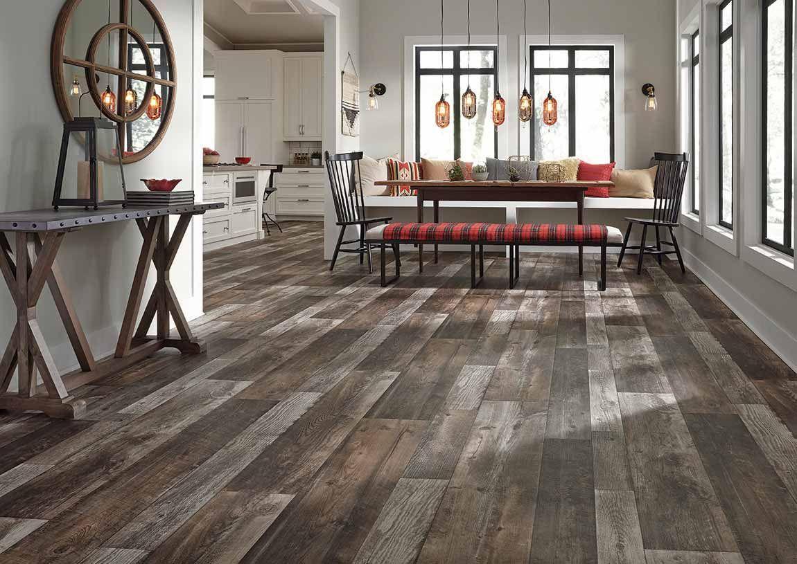 kitchen rustic farmhouse wood look dark in 2019 flooring home floor colors on farmhouse kitchen flooring id=77802