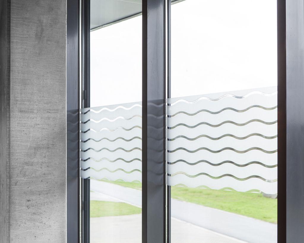 Statische Fensterfolie Wave In 45cm Breite Milchglasfolie Meterware Fensterfolie Fenster Sichtschutz Fenster