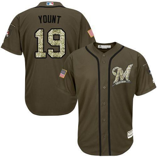 purchase cheap bd230 6ca0d Milwaukee Brewers Cool Base MLB Custom Salute To Service ...