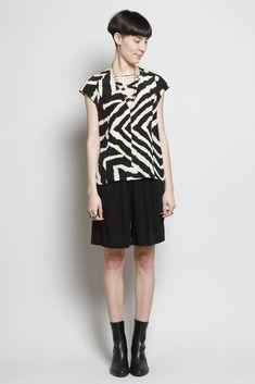 No. 6 Boji Pleat Shorts (Black)