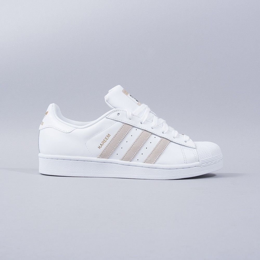 Adidas Superstar White & Rose Gold Stripes BB1428 size 4 6