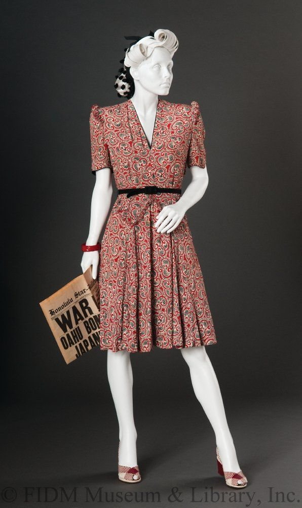 1940s Style Dresses Fashion Clothing: Day Dress - There'll Always Be An England