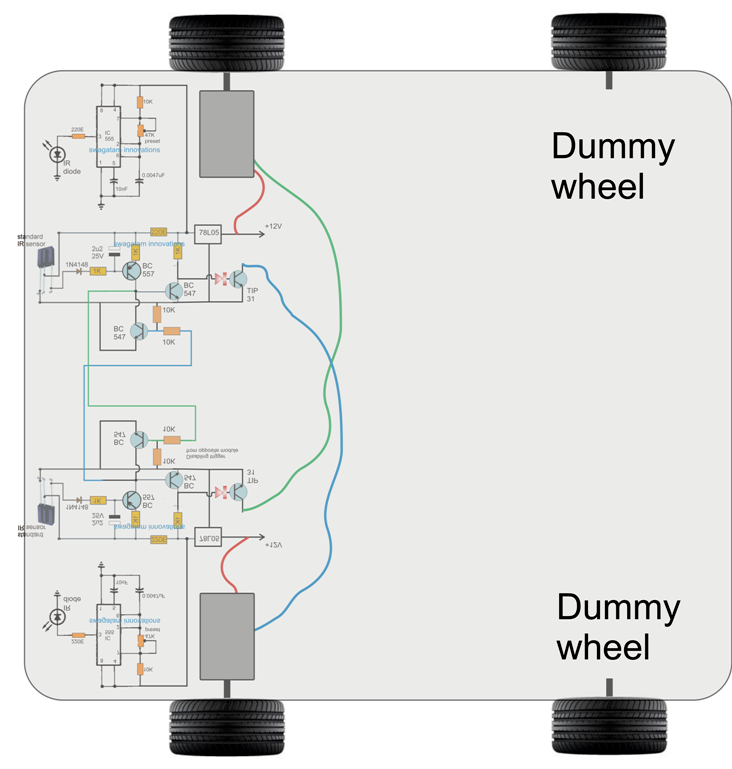 The Post Explains A Simple Obstacle Avoiding Robot Circuit Without