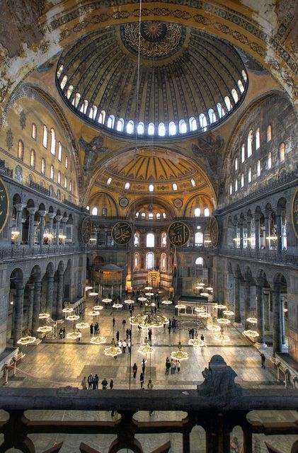 Hagia Sophia, Istanbul   This may be my MOST favorite site I've ever been.