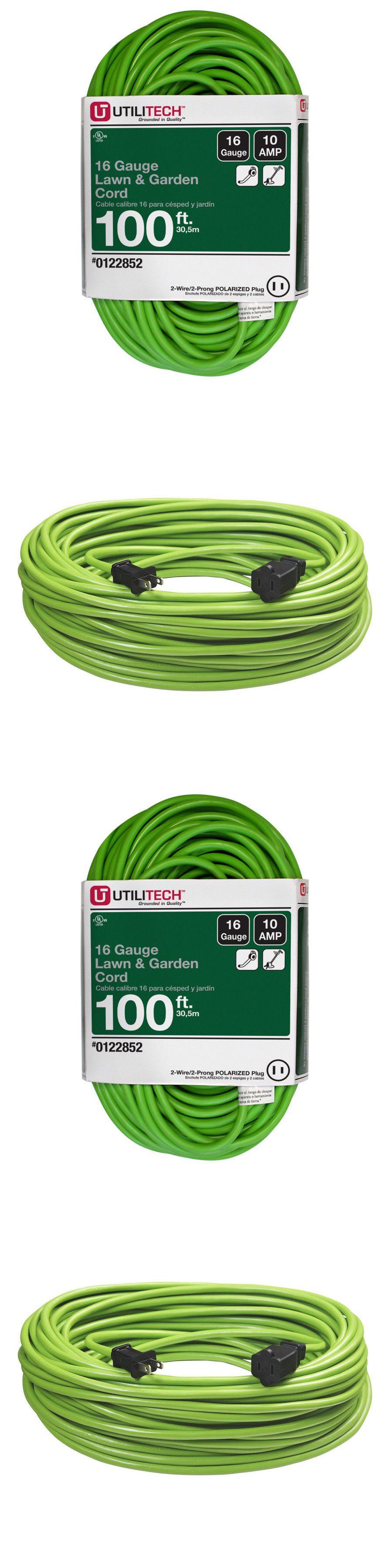 Utilitech 100 Ft 10 Amp 125 V 16 Gauge Lime Green Outdoor Garden Extension Cord 761768398906 Ebay Extension Cord Outdoor Garden Cord