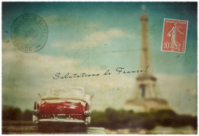 Keep hold of old postcards. I collected post cards from everywhere when i went to Europe. Super cheap too!