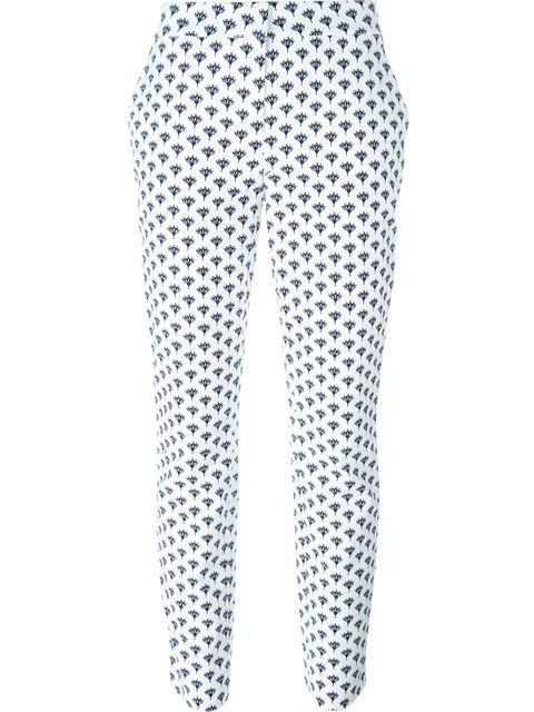 DIANE VON FURSTENBERG Peace Palm Slim Fit Regular Trousers. #dianevonfurstenberg #cloth #trousers