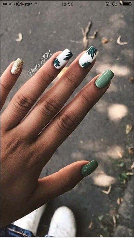 50+ natural summer nails design for short square nails 62-#50