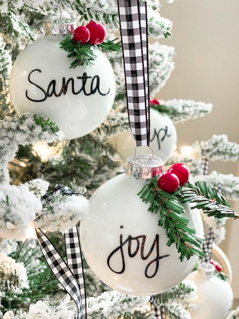 Easy Diy Personalized Christmas Ornaments Thrifty Style Team 2 Bees In A Pod Diy Christmas Ornaments Christmas Decorations Ornaments Personalized Christmas Ornaments