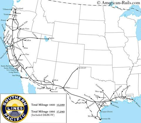 The Southern Pacific in 2019 | Train map, Railway route map ... on great northern railroad map, louisiana & arkansas railroad map, chicago, burlington and quincy railroad map, chicago & northwestern railroad map, santa fe railroad map, rock island railroad map, railroad tracks in colorado map, kansas city southern railroad map, ohio railroad map, wabash railroad map, burlington northern railroad map, soo line railroad map, amtrak map, norfolk southern railroad map, illinois railway museum map, current united states railroad map, indiana harbor belt railroad map, new york central railroad map, b&o railroad map, galena and chicago union railroad map,