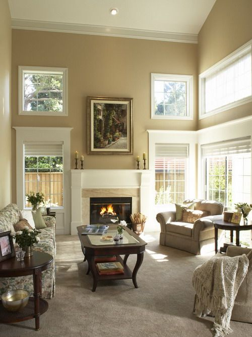 Elegant Contemporary Living Room With Cream Soft Painting Design Paint Color Ideas  For Perfect Living Room Design