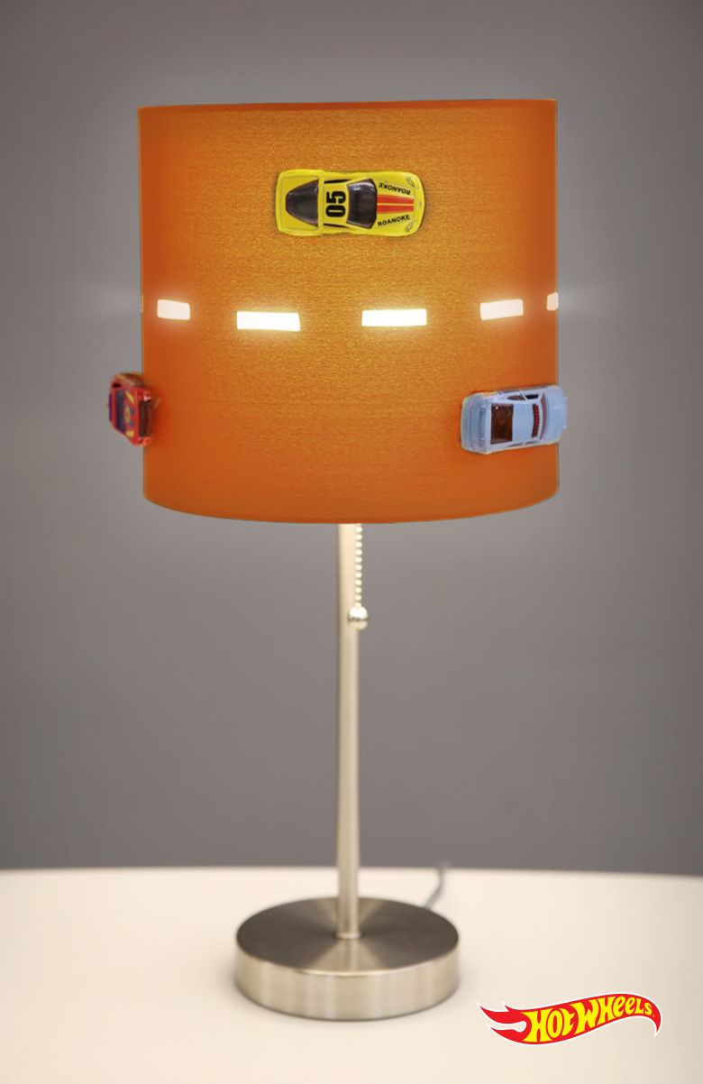 Orange Kids Lamp - 27 diy toy car projects for kids crazy for hot wheels and matchbox cars