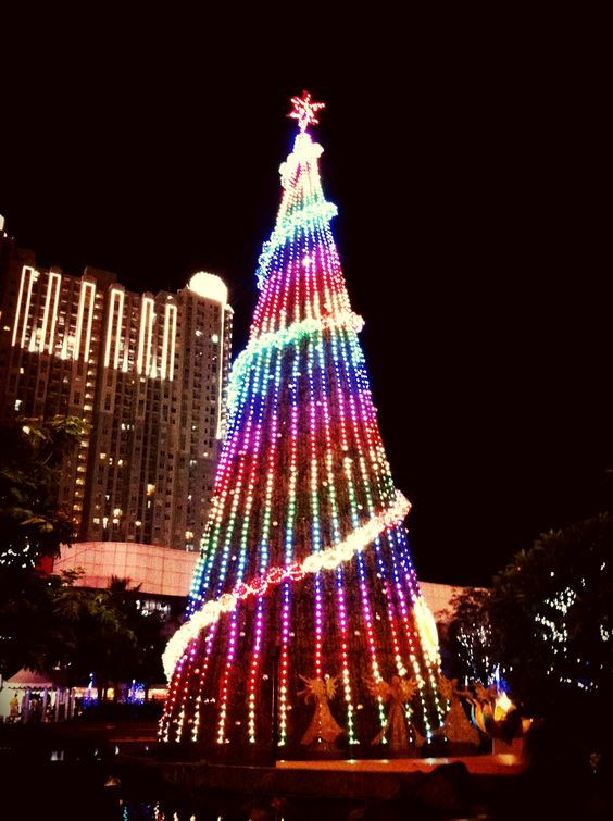 Found This Huge Christmas Tree At The City I Live In Jakarta Id The Biggest So Far With Images Beautiful Christmas Trees