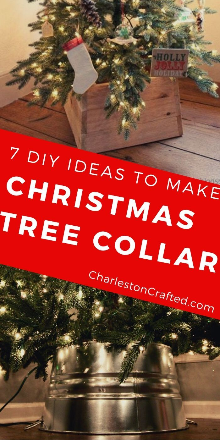 7 DIY Christmas Tree Collar Ideas Tree collar, Ribbon on
