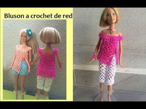 Vestido de novia o 15 años a crochet para barbie ( parte 1 ...