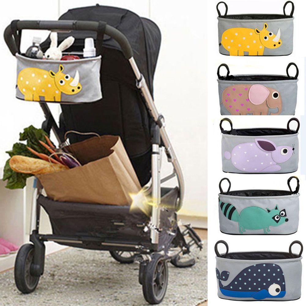 Oxford Bags Baby Cart Strollers Bag Organizer Basket Pushchair Cup Bag Portable