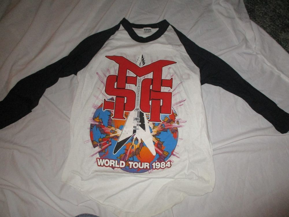 668c861fbd5 Vintage The Michael Schenker Group 1984 Built To Destroy Tour Shirt NOS  42-44  TourSportswear  GraphicTee