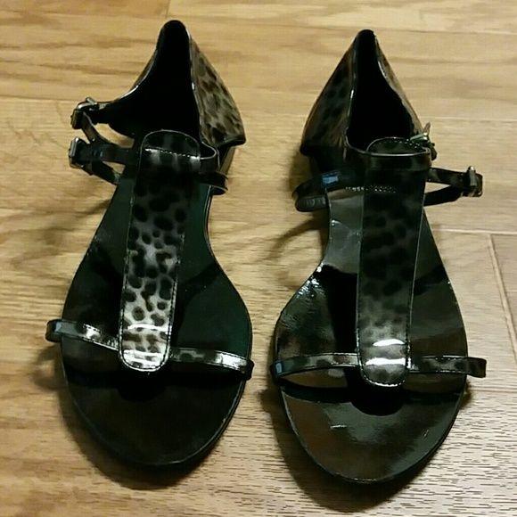 J CREW SANDLES J Crew brown silver and black classy sandles j Crew  Shoes Sandals