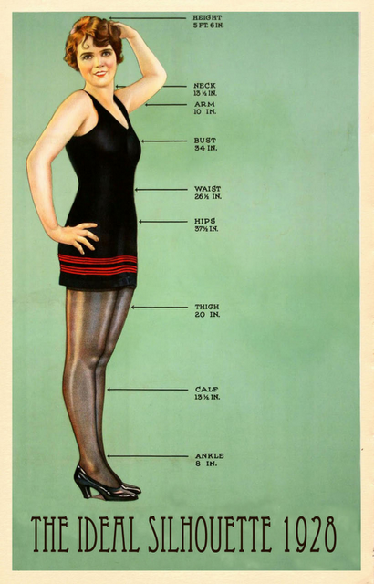 Ideal Silhouette, 1928 This Seals The Deal- Ideal Height -9904
