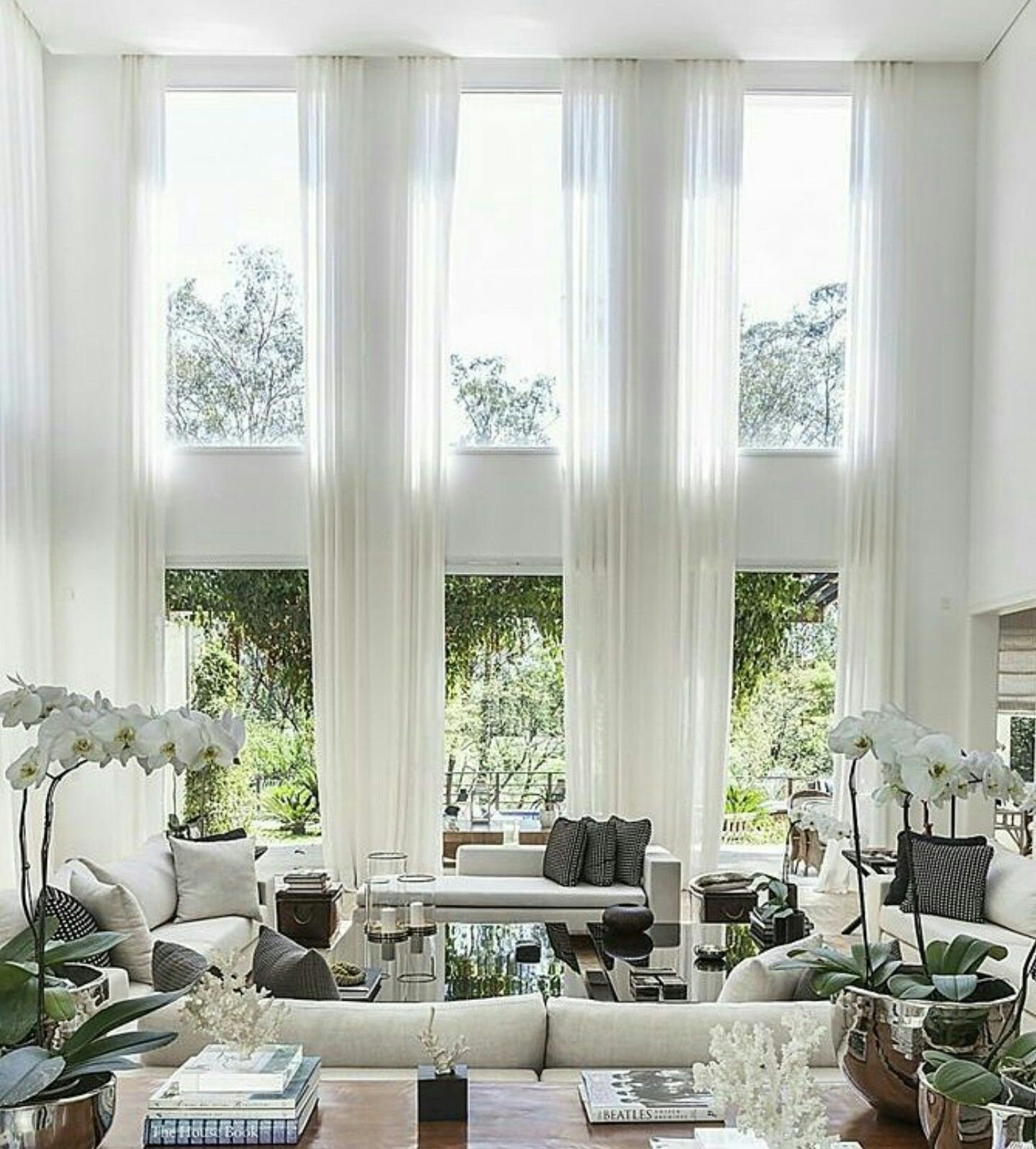 Natural Light Living Room, Double Height, Floor To Ceiling