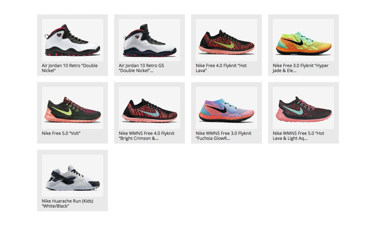 New Releases on Nike.comEurope: 28th of