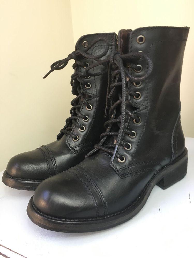 5fbeab33cf3 NEW Steve Madden Troopa Combat Boot Black - Size 10  SteveMadden   CombatBoots