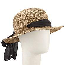 c46988cb8182b Buy John Lewis Small Brim Tie Detail Sun Hat