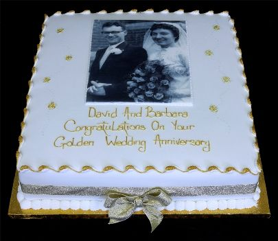 Aniversary Cakes 50th Anniversary Golden Ideas 60 Wedding Decorations