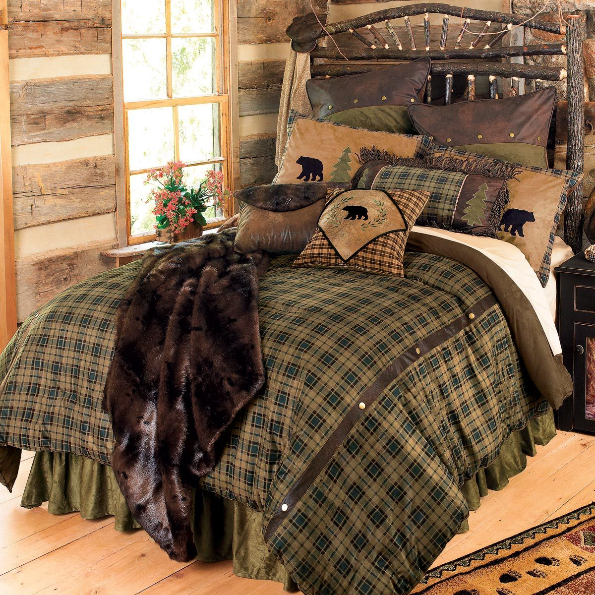 Alpine Bear Bed Set King for Mountain House Cabin