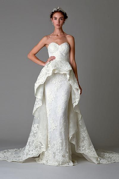 8ff87a79e6 Wedding gown by Marchesa.Check out more gorgeous dresses in our Marchesa  gown gallery ▻