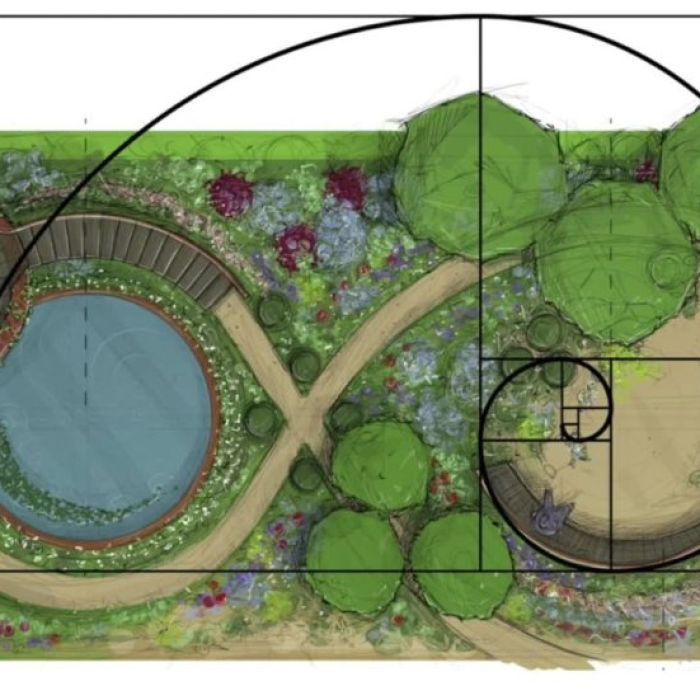 How Fibonacci and the golden ratio can make your garden beautiful is part of Garden design, Spiral garden, Diy garden projects, Chelsea flower show, Gardening design diy, Chelsea flower - The peculiar sequence of numbers at the heart of The Da Vinci Code shows up not only in plants themselves, but also in the way we design gardens