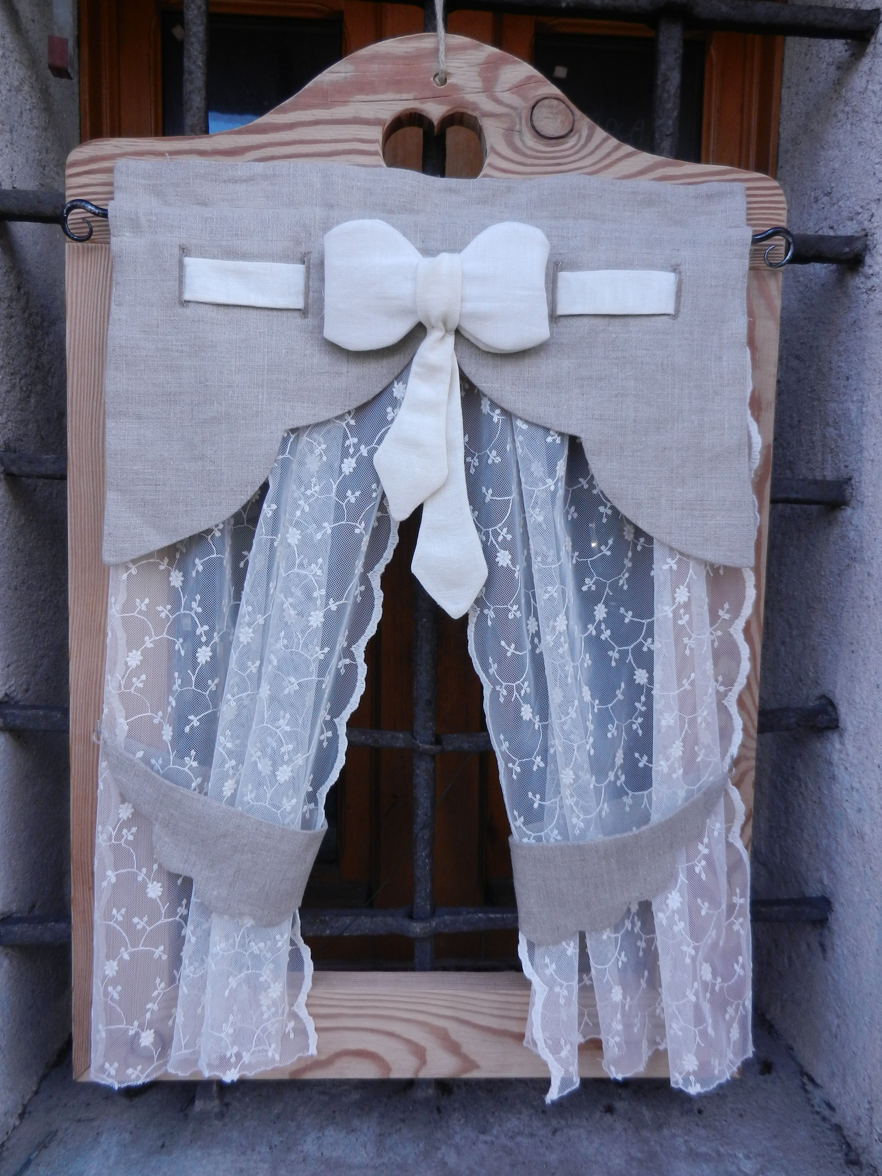 Tendina con fiocco centrale curtains pinterest tende for Pinterest tende