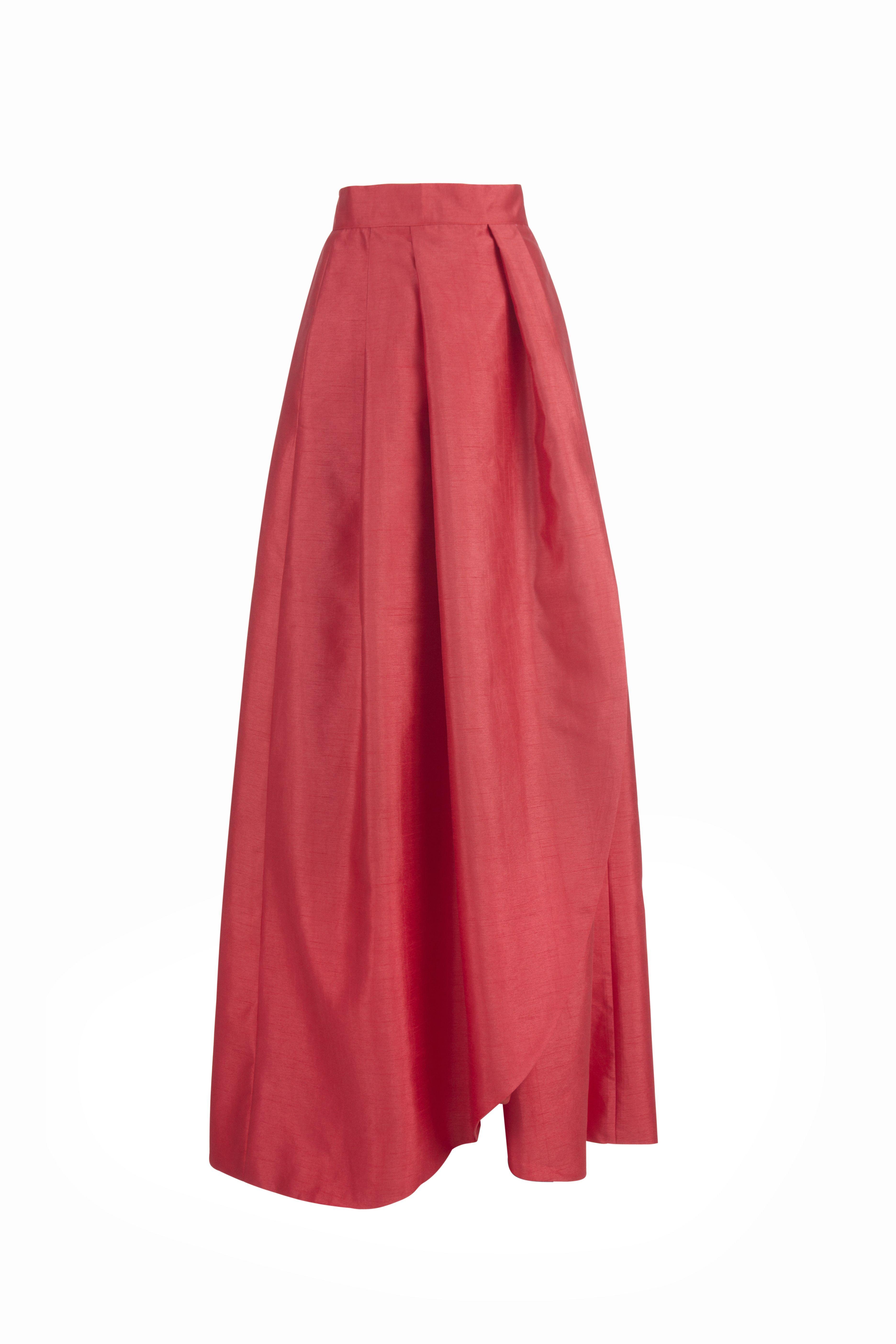 dcbcefdf1 Falda larga Victoria roja Miticca by Isabella Gobarodi | Outfit ...