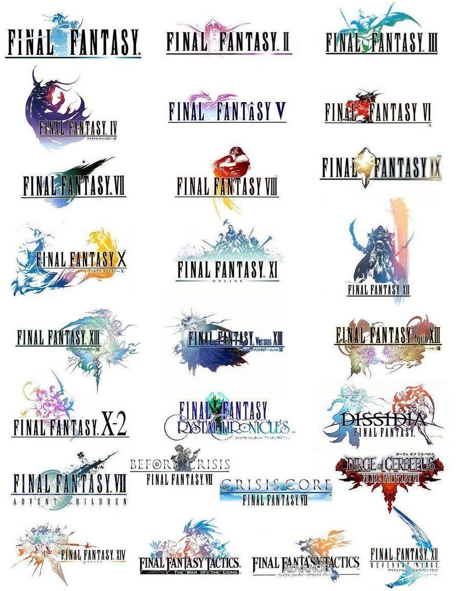 Final Fantasy Logo Compilation By Hajpero Final Fantasy Logo