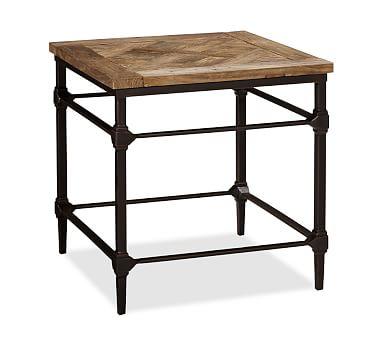 Parquet Reclaimed Wood Side Table #potterybarn CM\u0027s Apartment