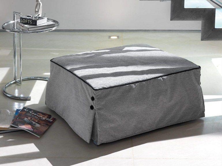 Puf cama de tela con funda extraíble BILL by Milano