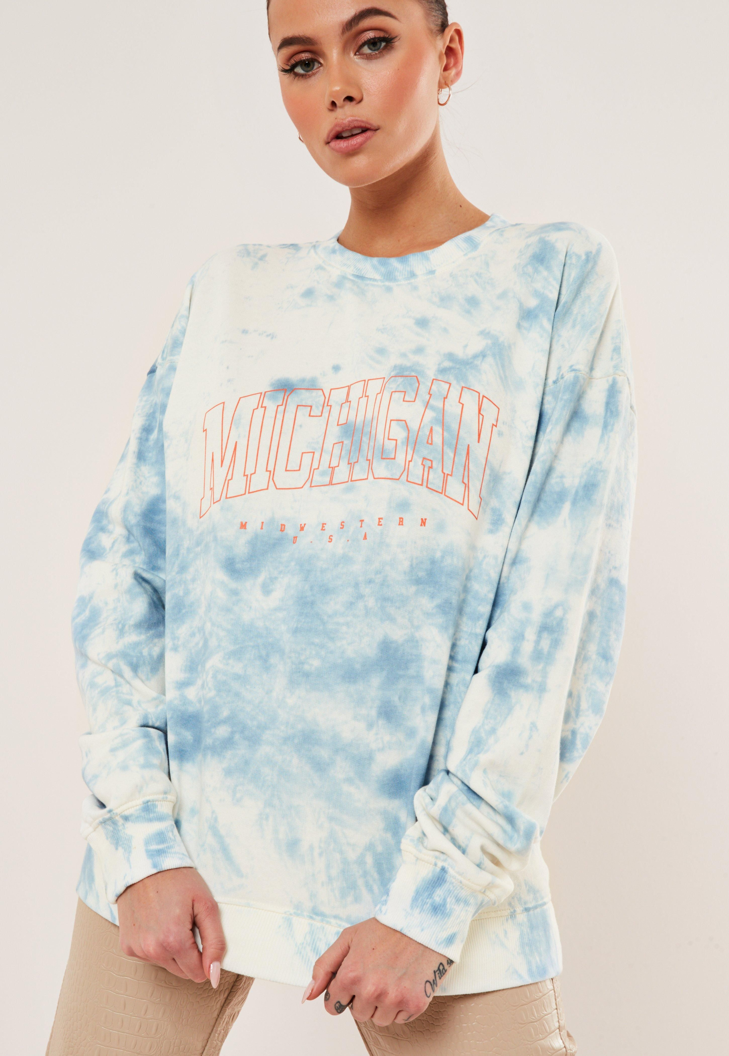Blue Tie Dye Michigan Sweatshirt Sponsored Tie Spon Blue Dye Tie Dye Outfits Tye Dye Shirts Diy Tie Dye Shirts [ 4200 x 2900 Pixel ]